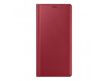 samsung galaxy note 9 leather cover red front 1
