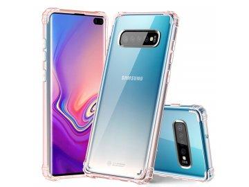 Silikónový kryt (obal) pre Samsung S10 priesvitný ružový