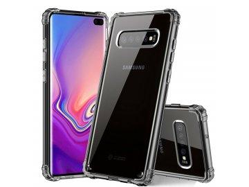 Silikónový kryt (obal) pre Samsung S10 priesvitný čierny