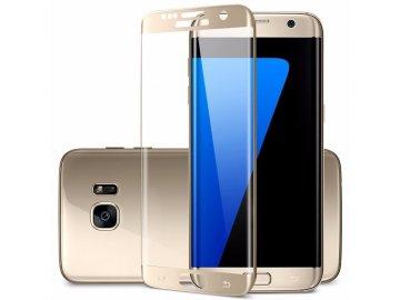 3D tvrdené sklo pre Samsung Galaxy S7 Edge - zlaté