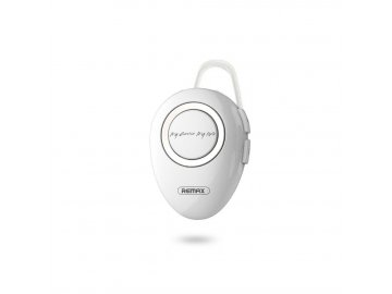 Remax single bluetooth headset biely