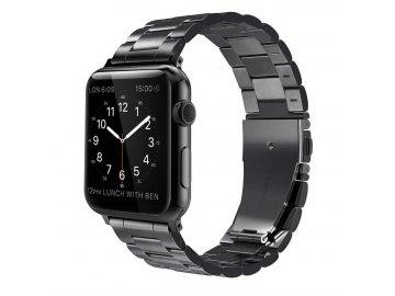 Kovový remienok pre Apple Watch 42mm z nehrdzavejúcej ocele čierny