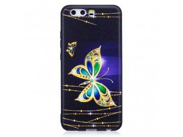 Silikónový kryt (obal) zlatý motýľ