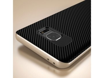 Gumový kryt (obal) pre Samsung Galaxy Note 7 - čierny so zlatými okrajmi