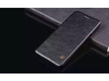 Kožené Flip Case (puzdro) pre Samsung Galaxy Note 7 - čierne (black)