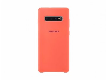 samsung silicone cover s10 plus berry pink