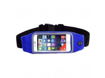 """Rebeltec Waist Active puzdro pre mobilné telefóny do veľkosti 5,5"""" na pás - modré"""