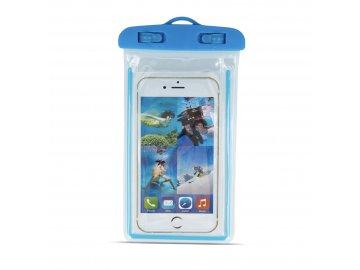 vodotesné púzdro na mobil modré