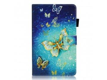 obal na tablet zlaté motýle