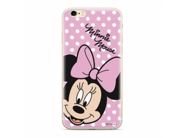 Disney Minnie zadný kryt ružový s bodkami