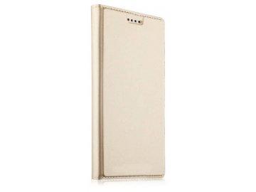 Flip Case (puzdro) pre Samsung Galaxy Note 10+ (Plus) - zlaté - s magnetickým dovieraním
