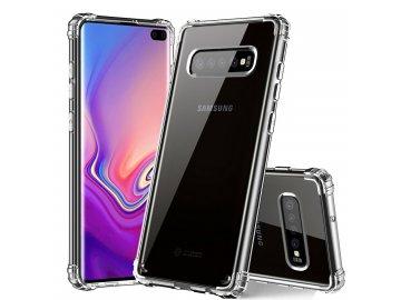Silikónový kryt (obal) s tvrdenými okrajmi pre Samsung A10 - priesvitný