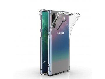 Silikónový kryt (obal) s tvrdenými okrajmi pre Samsung Galaxy Note 10 - priesvitný