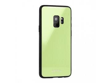 Silikónový kryt (obal) pre Huawei P smart so sklenenou zadnou stranou - zelený