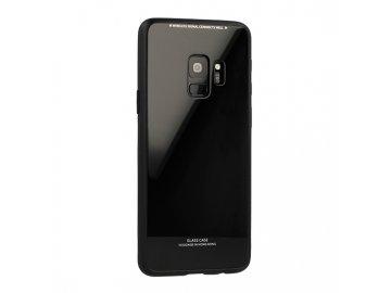 Silikónový kryt (obal) pre Huawei P smart so sklenenou zadnou stranou - čierny