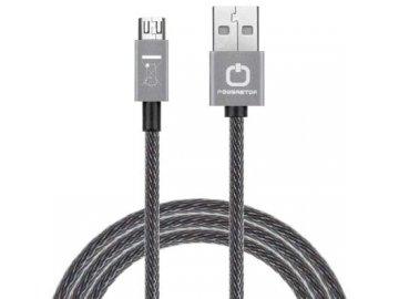 Dátový kábel POWERSTAR micro USB - šedý