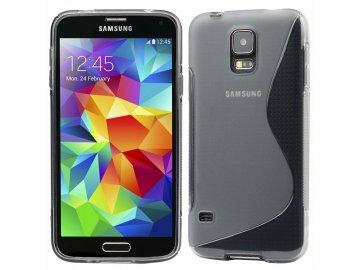 Silikónový kryt (obal) S-line pre Samsung Galaxy S5 - priesvitný