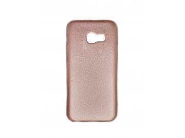 Silikónový kryt (obal) pre Samsung Galaxy A3 2017 - ružovo zlatý