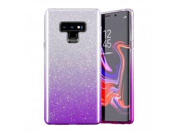 Silikónový kryt (obal) pre Samsung Galaxy A3 2017 - trblietavý fialový