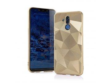 Silikónový kryt (obal) Geometric 3D pre Huawei P30 Lite - zlatý