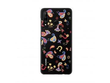 Puzdro (obal) Huawei Floral Black pre P30 Lite - čierne