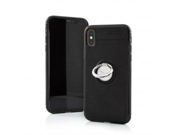 Silikónový kryt (obal) Auto Focus Ring pre Samsung Galaxy A20e - čierny