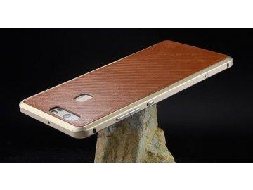 Hliníkový rám pre Huawei Ascend P9 Lite - hnedý (brown)