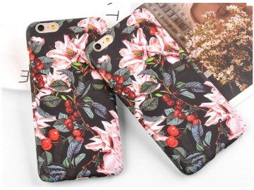 Plastový kryt (obal) pre iPhone 5/5S/SE - čerešňový kvet