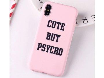 Silikónový kryt (obal) pre iPhone 5/5S/SE - CUTE BUT PSYCHO (ružový)