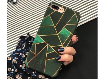 Plastový kryt (obal) pre iPhone 7/8 - zeleno-zlatý