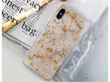 Silikónový kryt (obal) pre iPhone 6+/6S+ (Plus) - zlatý mramor