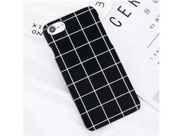 Plastový kryt (obal) pre iPhone 7+/8+ (Plus) - čierny mriežkovaný