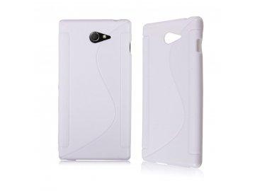 Silikónový kryt (obal) pre Sony Xperia E3 - white (biely)