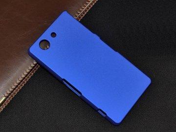 Plastový kryt (obal) pre Sony Xperia Z3 Compact - dark blue (tm. modrý)