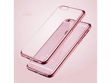Silikónový kryt (obal) pre Huawei Mate 20 Pro - s ružovým okrajom