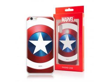 MARVEL Captain America silikónový kryt (obal) pre Huawei Mate 20 Lite - štít