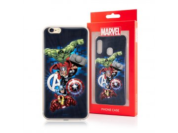 MARVEL Avengers silikónový kryt (obal) pre Huawei Y6 Prime 2019 - modrý