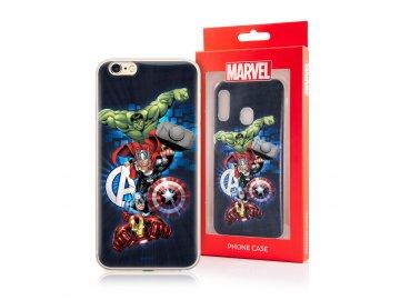 MARVEL Avengers silikónový kryt (obal) pre Huawei Y6p - modrý