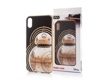 Star Wars Luxury Chrome zadný kryt (obal) pre iPhone X/XS - BB-8 zlatý