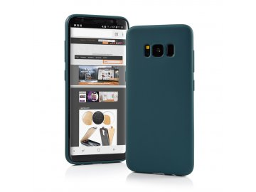 Silikónový kryt (obal) Matt pre Samsung Galaxy A50/A30s - tmavozelený