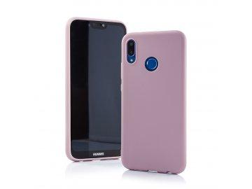 Silikónový kryt (obal) Matt pre Huawei P20 Lite - púdrová ružová