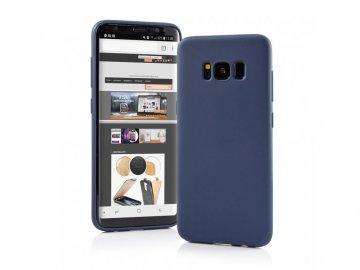 Silikónový kryt (obal) Matt pre Samsung Galaxy A21 - modrý