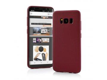 Silikónový kryt (obal) Matt pre Samsung Galaxy A21 - bordová