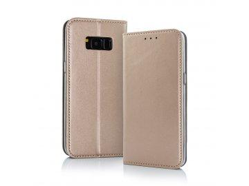 Smart Magnetic flip case (puzdro) pre Sony Xperia L3 - zlaté