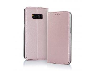 Smart Magnetic flip case (puzdro) pre Huawei Y6 2019 - ružovo zlaté