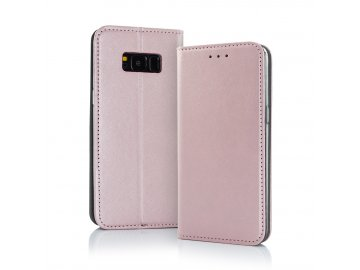 Smart Magnetic flip case (puzdro) pre Samsung Galaxy A40 - ružovo zlaté