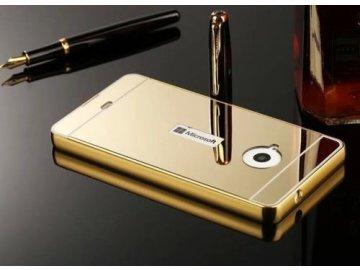 Hliníkový kryt (obal) pre Nokia Lumia 550 - zlatý (gold)