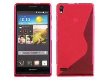 Gélový kryt (obal) pre Huawei Ascend P6 - pink (ružový)