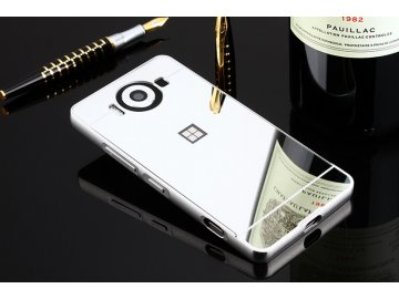 Hliníkový kryt (obal) pre Nokia Lumia 950 - strieborný (silver)