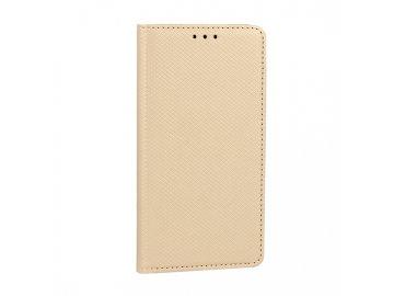Telone flip Case (puzdro) pre LG G8 ThinQ - zlaté - s magnetickým dovieraním
